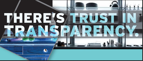 Trust is the instrumental part of Transparency in business.